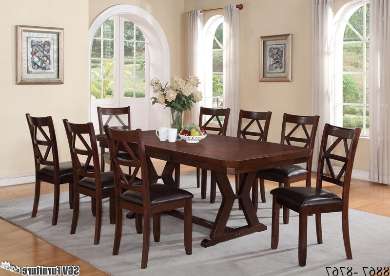 [%Oak Style 9 Piece Dining Set, 1 Table, 8 Chairs [8867 – 8767 Within Most Current 8 Chairs Dining Sets|8 Chairs Dining Sets Throughout Most Current Oak Style 9 Piece Dining Set, 1 Table, 8 Chairs [8867 – 8767|Most Up To Date 8 Chairs Dining Sets With Oak Style 9 Piece Dining Set, 1 Table, 8 Chairs [8867 – 8767|Current Oak Style 9 Piece Dining Set, 1 Table, 8 Chairs [8867 – 8767 Regarding 8 Chairs Dining Sets%] (View 1 of 20)