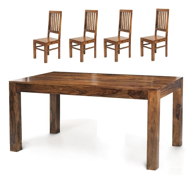 Oak World Regarding 2018 Sheesham Dining Tables And 4 Chairs (View 20 of 20)