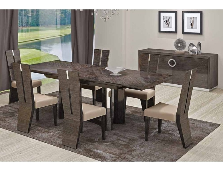 Octavia Italian Modern Dining Room Furniture With Regard To Well Known Modern Dining Room Sets (View 17 of 20)