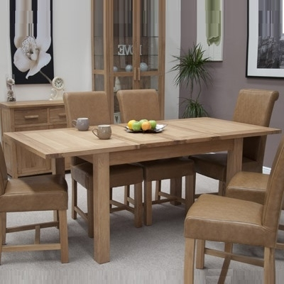 Opal Oak Extending Dining Table With 6 Louisa Tan Chairs Throughout Most Recently Released Oak Extending Dining Tables And Chairs (Gallery 20 of 20)