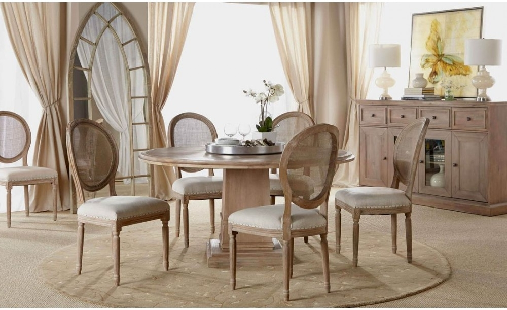 "Orient Express Traditions Hudson 60"" Round Dining Table In Stone Wash In Trendy Hudson Round Dining Tables (Gallery 19 of 20)"