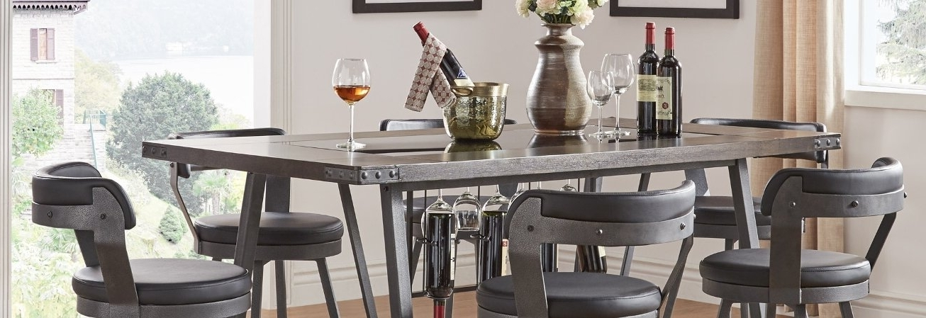Our Best Dining For Wyatt 7 Piece Dining Sets With Celler Teal Chairs (View 14 of 20)