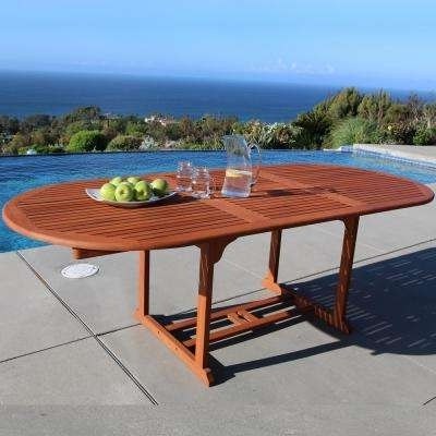 Outdoor Extendable Dining Tables With Most Popular Extendable – Patio Dining Tables – Patio Tables – The Home Depot (View 10 of 20)