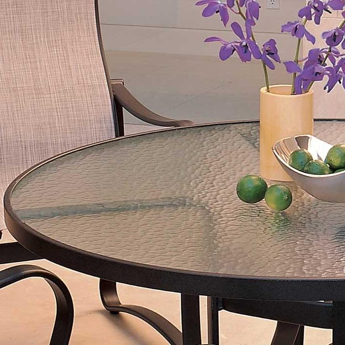 Outdoor Patio Acrylic Dining Table (Gallery 12 of 20)