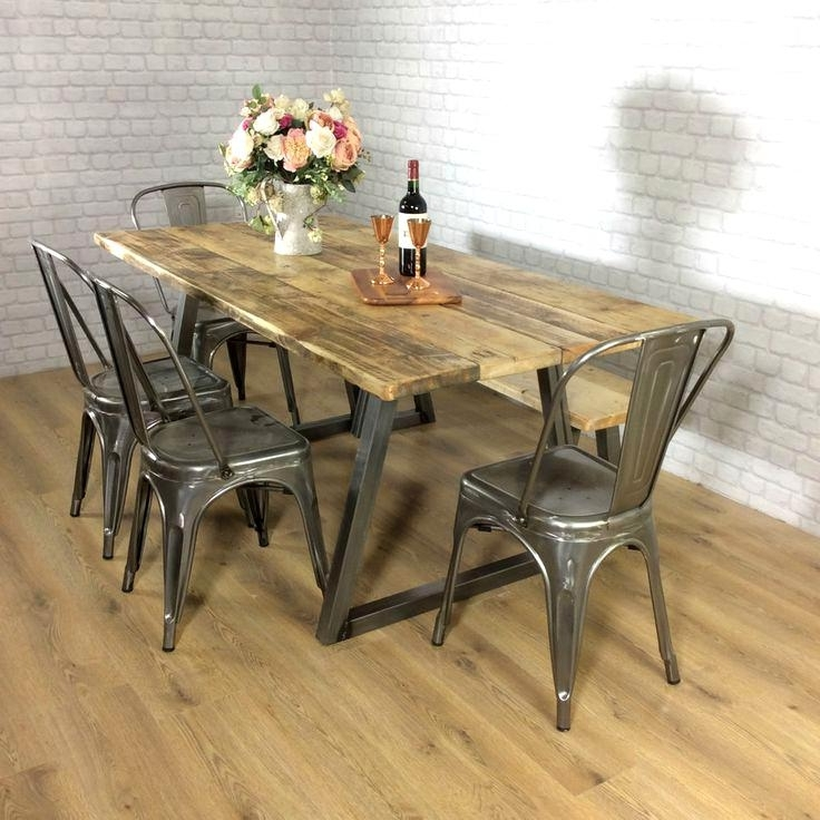 Outstanding Industrial Style Dining Table Wood Awesome Industrial In Recent Industrial Style Dining Tables (View 17 of 20)