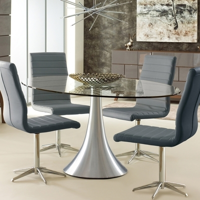 Oval Glass 6 Seater Dining Table – Dwell Intended For Widely Used Glasses Dining Tables (Gallery 3 of 20)