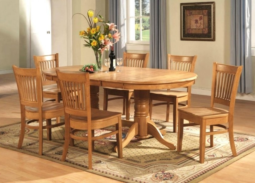 Oval Oak Dining Tables And Chairs Intended For Fashionable Improbable Oval Oak Dining Table Chairs Oval Dining Room Table Sets (Gallery 20 of 20)