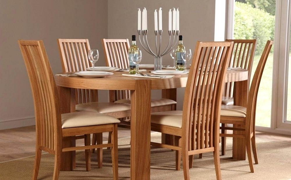Oval Oak Dining Tables And Chairs Pertaining To Trendy Adorable Oval Oak Dining Table Chairs Great Oval Dining Tables And (Gallery 8 of 20)