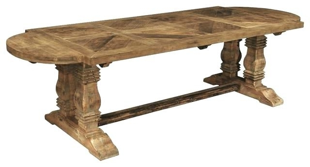 Oval Reclaimed Wood Dining Tables Within Current Oval Reclaimed Wood Dining Table French Country Reclaimed Pine (View 2 of 20)