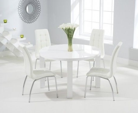 Oval White High Gloss Dining Tables For 2017 Buy The Atlanta 120Cm Round White High Gloss Dining Table With (Gallery 8 of 20)