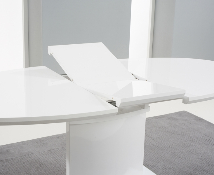 Oval White High Gloss Dining Tables Inside Widely Used Buy Mark Harris Seville White High Gloss Dining Table – 160Cm Oval (Gallery 4 of 20)