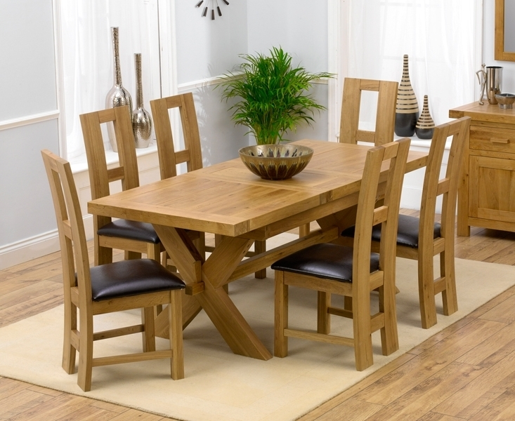 Padova Solid Oak 160Cm Extending Dining Set With 4 Rogo Brown Chairs Inside Widely Used Oak Extending Dining Tables And Chairs (View 16 of 20)