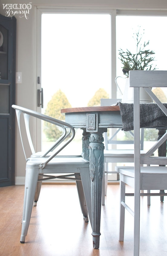 Painted Dining Table  Finally! – The Golden Sycamore Regarding Well Known Painted Dining Tables (View 11 of 20)
