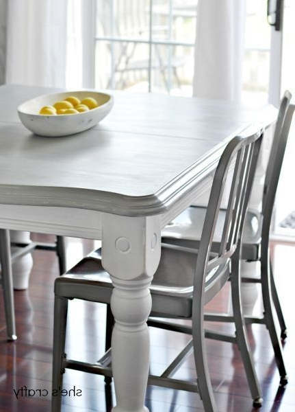 Painted Dining Tables Pertaining To Famous 20 Diy Home Decor Ideas (View 12 of 20)