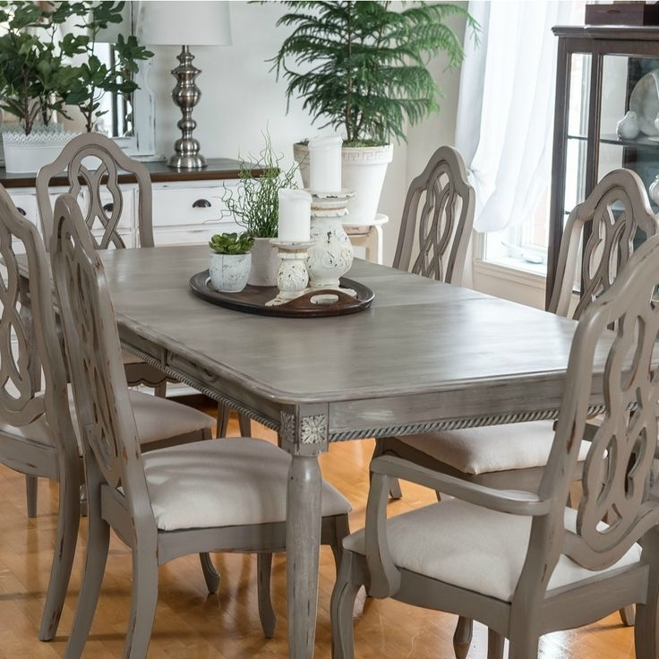 Painted Dining Tables Pertaining To Most Popular Painted Dining Room Chairs Ideas Chairs Seating Tan Leather Dining (View 14 of 20)