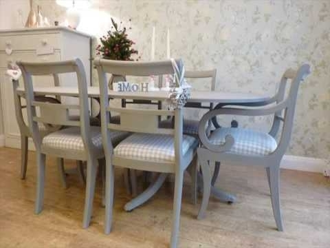 Painted Dining Tables Regarding Latest Painted Dining Table And Chairs Design Uk – Youtube (View 15 of 20)