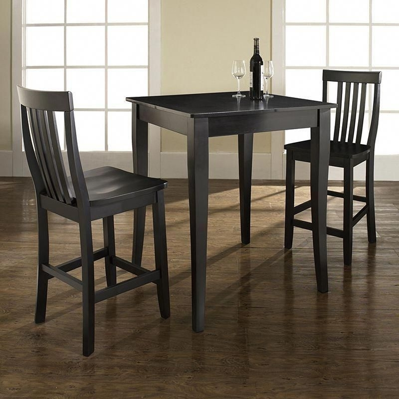 Palazzo 3 Piece Dining Table Sets Within Current Crosley Furniture 3 Piece Cabriole Dining Set, Black #pubsets (View 14 of 20)