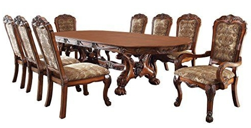 Palazzo 6 Piece Rectangle Dining Sets With Joss Side Chairs Within Famous Medieve English Style Antique Oak Finish 9Piece Formal Dining Table (View 10 of 20)