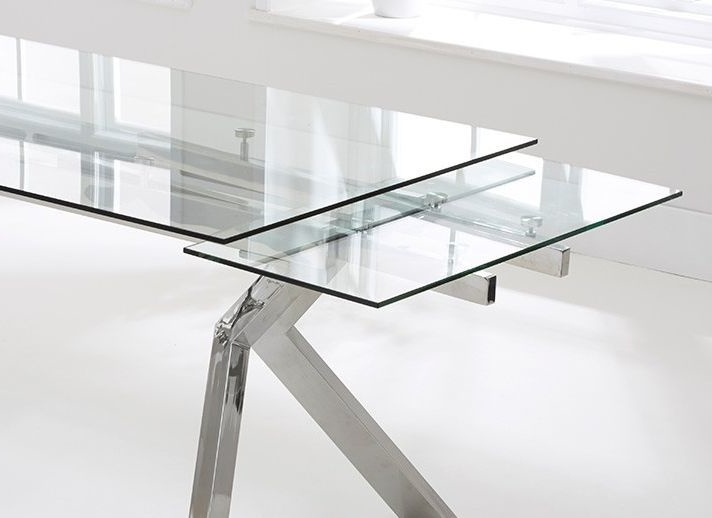 Palazzo Glass Extending Dining Table (View 15 of 20)