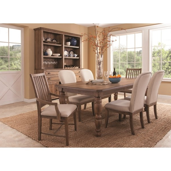 Panama Jack South Mountain Farmhouse Extendable Dining Table Set For Most Current Extendable Dining Table Sets (View 17 of 20)