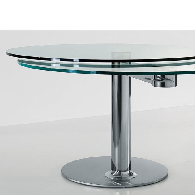 Panik Design Intended For Popular Glass Round Extending Dining Tables (View 17 of 20)