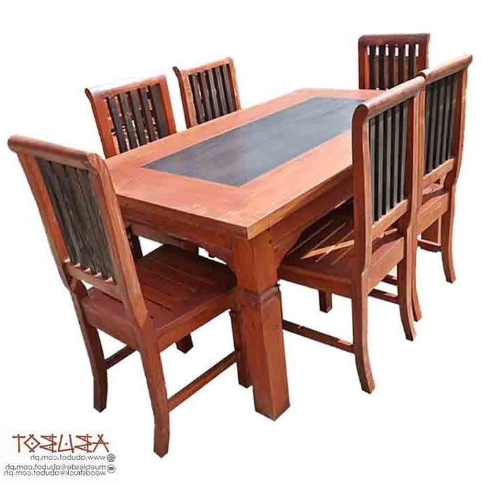 Parquet 6 Piece Dining Sets With Regard To Best And Newest Abubot (View 10 of 20)