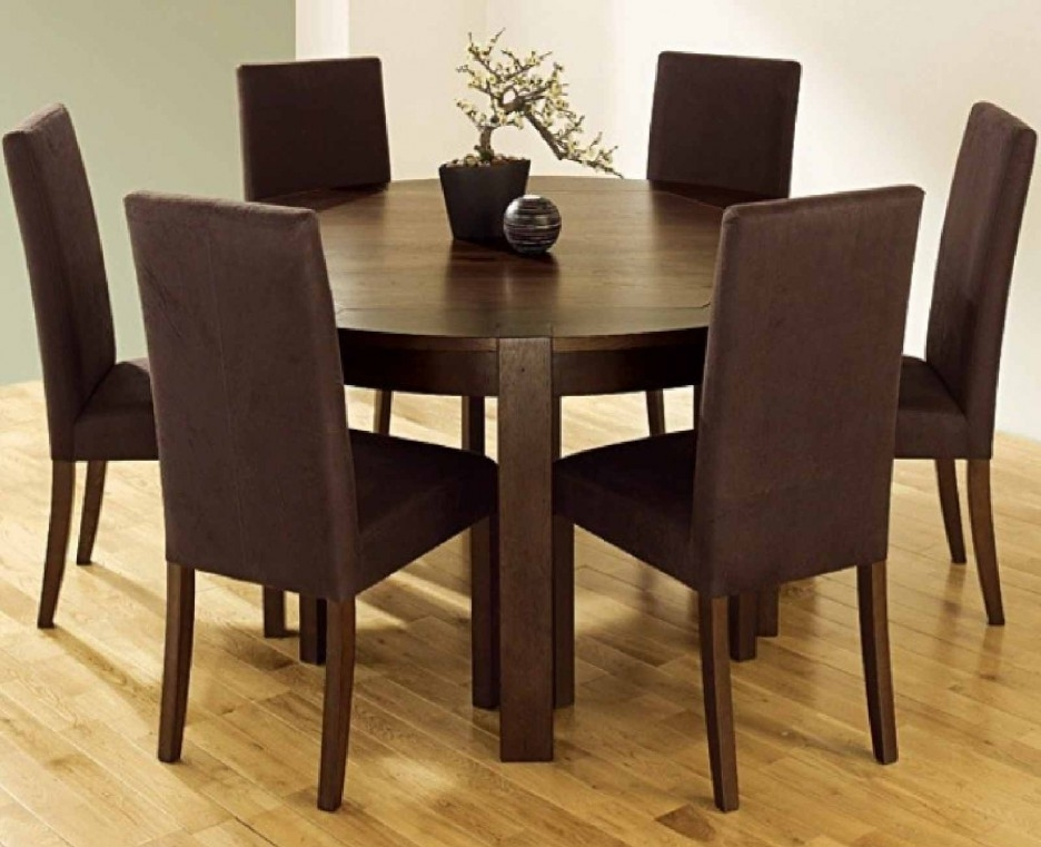 Parquet 7 Piece Dining Sets Pertaining To Trendy Funky Hunky Cappuccino Color 7 Pieces Furniture Dining Set With (View 6 of 20)