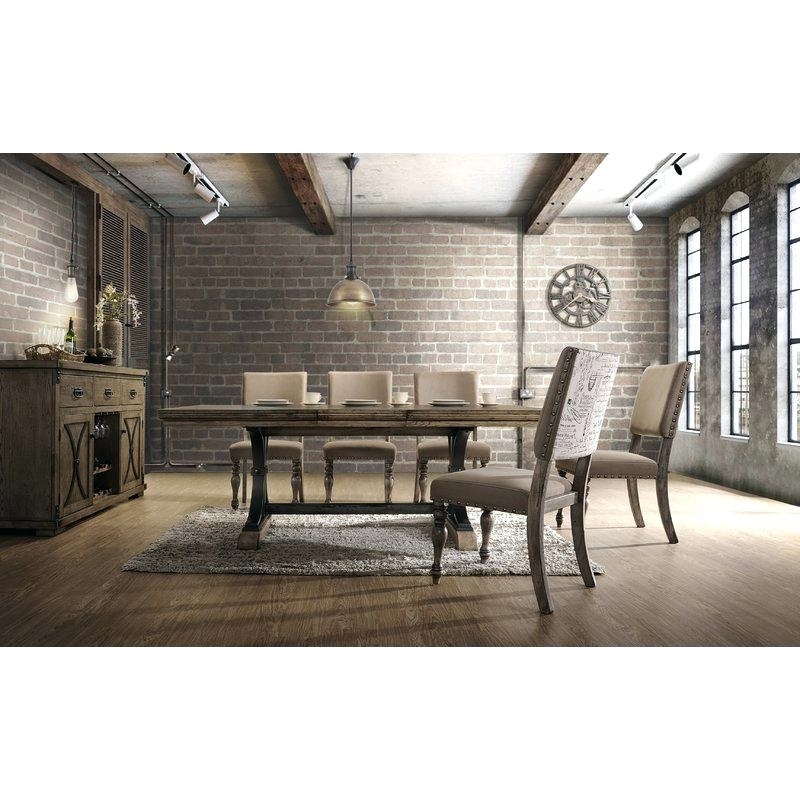 Partridge 7 Piece Dining Sets Inside Latest 7 Piece Dining Set With Leaf Dasher Removable Table Nail Head Chair (View 14 of 20)