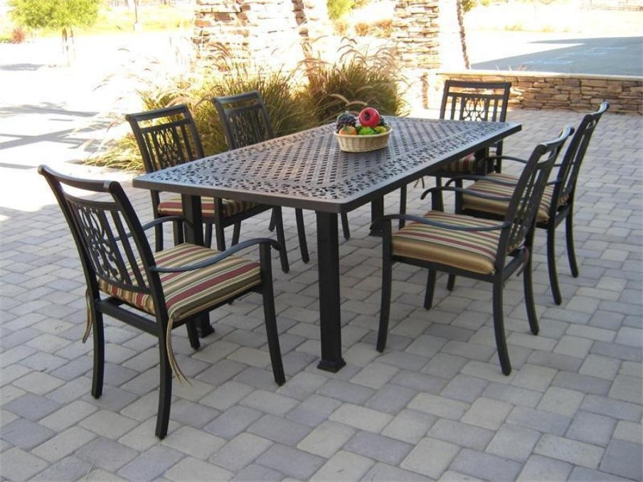 Patio: Astonishing Patio Table And Chair Sets Outdoor Dining Chair Inside Most Recent Outdoor Dining Table And Chairs Sets (View 15 of 20)