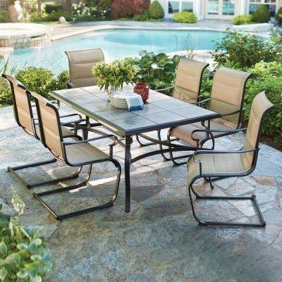 Patio Dining Sets – Patio Dining Furniture – The Home Depot For 2018 Outdoor Dining Table And Chairs Sets (View 3 of 20)