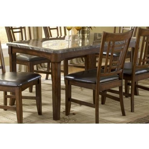Patterson 6 Piece Dining Sets With Regard To Well Liked Hillsdale Patterson Rectangle Marble Top Dining Table – Dark Oak (View 15 of 20)