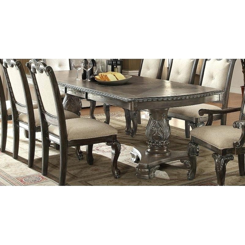 Pedestal Dining Table – Anthonytyronehoward Regarding Newest Magnolia Home Double Pedestal Dining Tables (View 19 of 20)