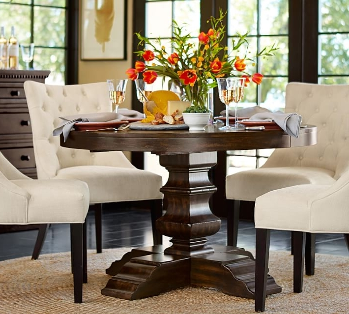 Pedestal Dining Tables And Chairs In Recent Impressive Round Dining Room Chairs With Well Round Dining Table For (View 12 of 20)