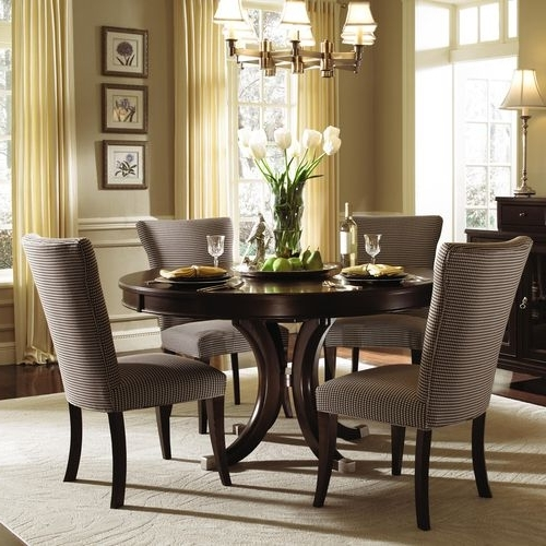 """Pedestal Dining Tables And Chairs With Regard To Newest Alston Round Pedestal Dining Table & Chairskincaid 54"""" $1, (View 16 of 20)"""