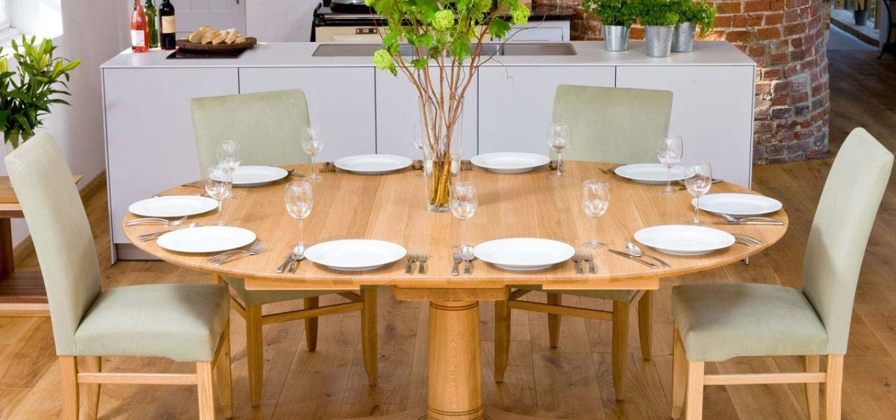 Pedestal Walnut & Oak Dining Tables (View 3 of 20)