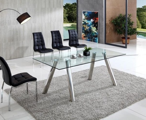 Pedro Clear Glass Dining Table With Angel Chairs – Implex Supplies With Preferred Clear Glass Dining Tables And Chairs (View 19 of 20)