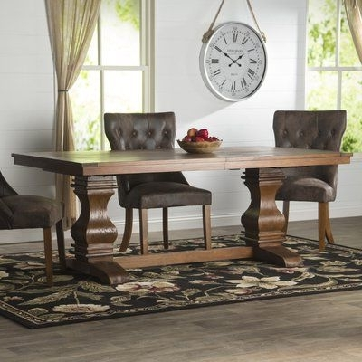 """Pelennor Extension Dining Tables With Current Loon Peak Needham 95"""" Extendable Dining Table (View 4 of 20)"""