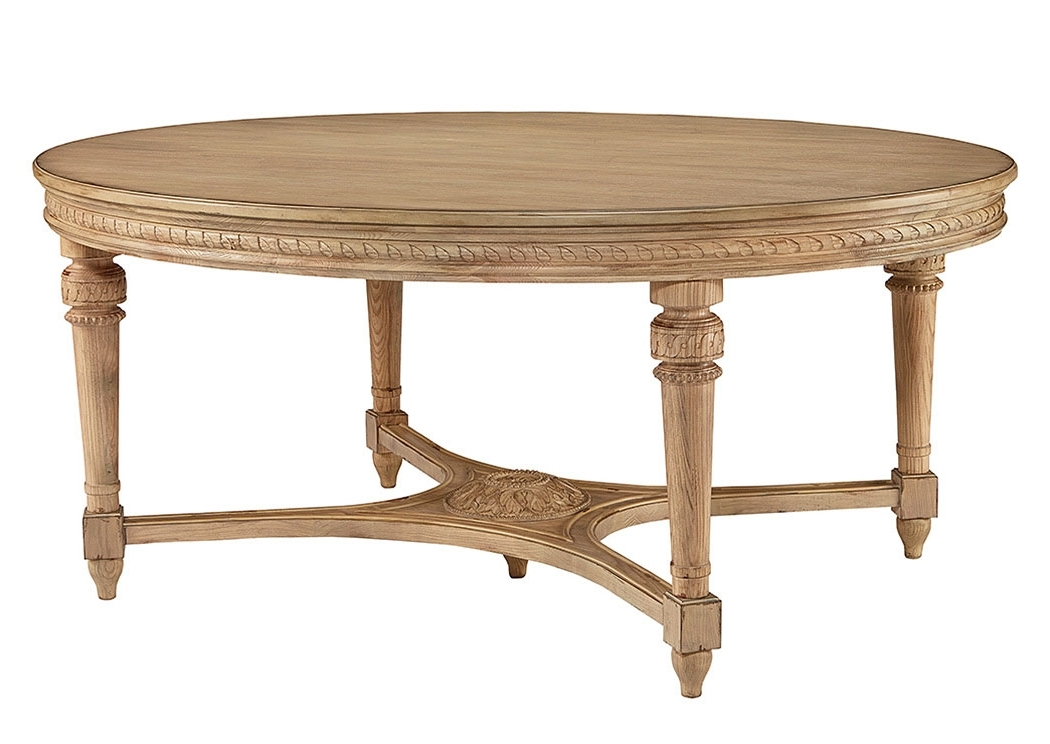 Penland's Furniture English Country Wheat Finish Oval Dining Table Intended For Well Liked Magnolia Home Shop Floor Dining Tables With Iron Trestle (View 14 of 20)
