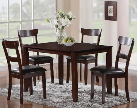 Pierce 5 Piece Counter Sets In Most Recently Released Chocolate Brown Five Piece Dining Set (View 11 of 20)