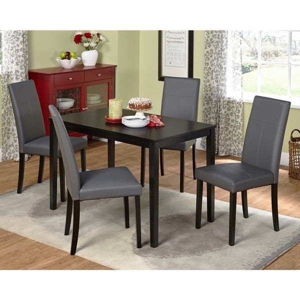 Pierce 5 Piece Counter Sets Within Latest Simple Living Bettega Parson Five Piece Dining Set (View 13 of 20)
