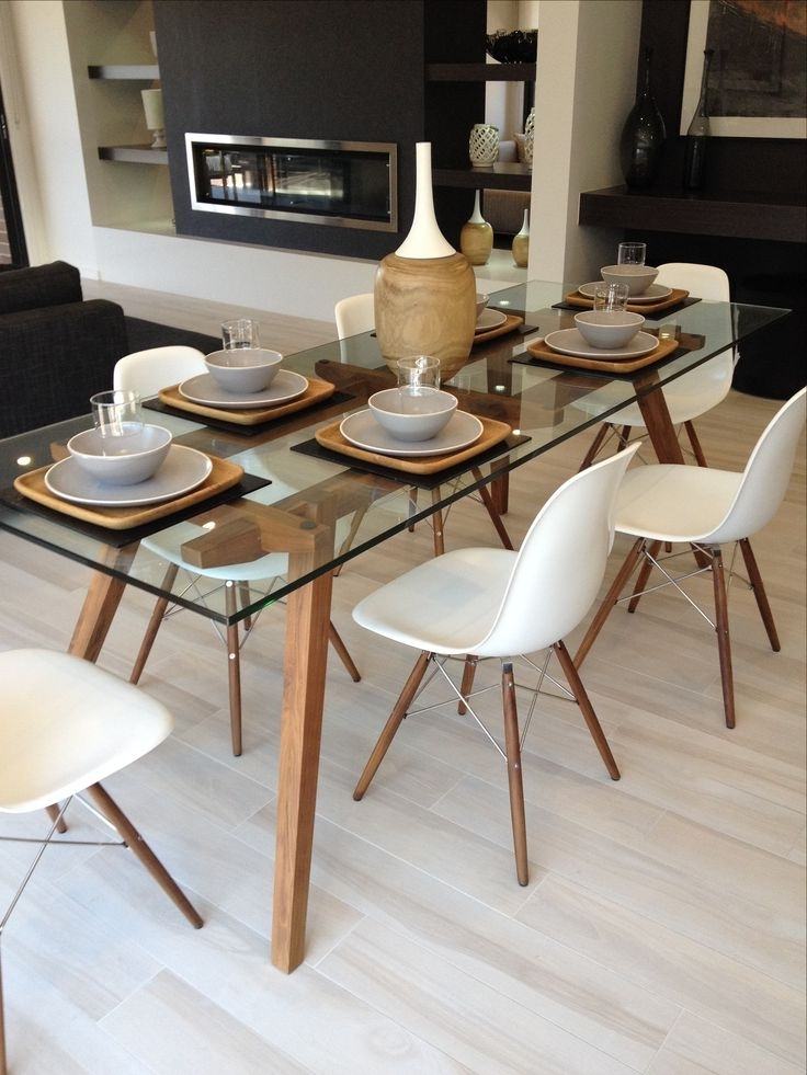 Pinterest With Regard To Fashionable Glass Dining Tables With Wooden Legs (View 14 of 20)
