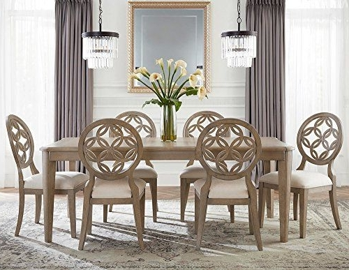 Pinterest Within Most Recent Jaxon Grey 7 Piece Rectangle Extension Dining Sets With Uph Chairs (View 16 of 20)