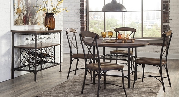 Plain Design Dining Room Sets With Fabric Chairs Norwood 6 Piece In Most Recent Norwood Rectangle Extension Dining Tables (View 12 of 20)