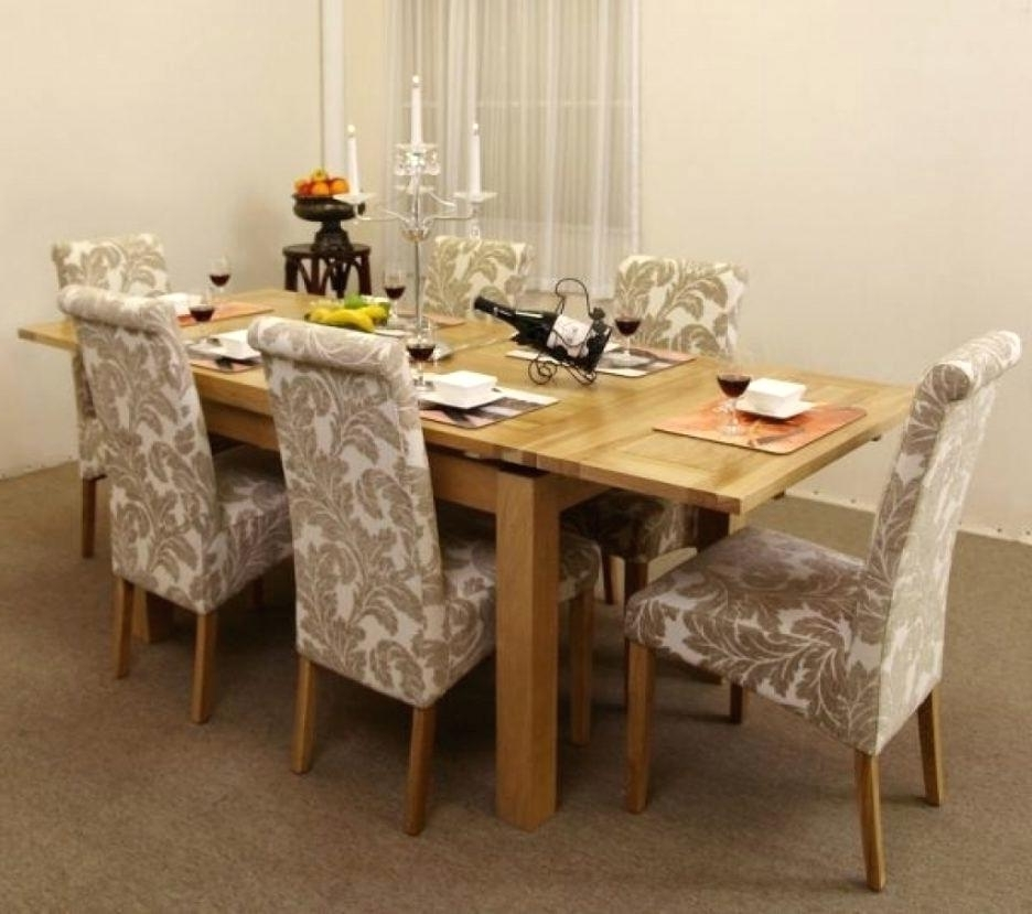 Plain Design Dining Room Sets With Fabric Chairs Norwood 6 Piece Inside Current Norwood 9 Piece Rectangular Extension Dining Sets With Uph Side Chairs (View 12 of 20)