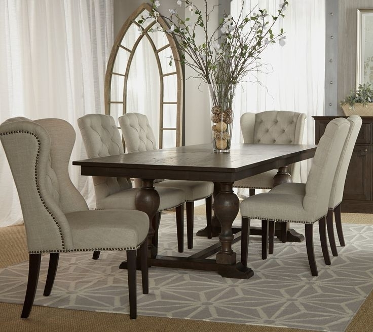 Plain Design Dining Room Sets With Fabric Chairs Norwood 6 Piece Intended For Widely Used Norwood 6 Piece Rectangle Extension Dining Sets (View 15 of 20)