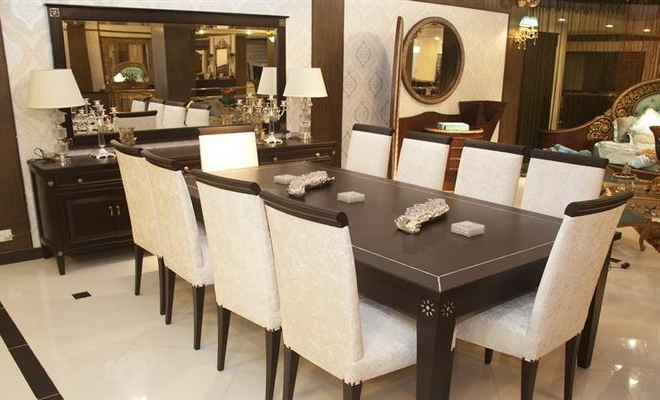 Popular 10 Chairs Dining Tableheaven Designs At Home Design In Dining Table And 10 Chairs (View 12 of 20)