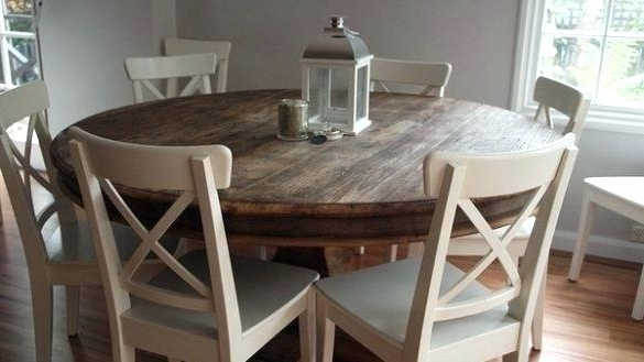 Popular 6 Person Round Dining Tables Within 6 Seater Round Dining Table And Chairs Person Adorable Kitchen Set  (View 16 of 20)