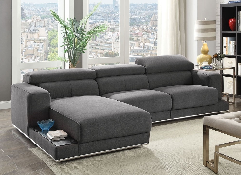 Popular Aquarius Dark Grey 2 Piece Sectionals With Raf Chaise With Regard To Fabric Sectional Aquarius Dark Grey 2 Piece W Laf Chaise Living (View 12 of 15)