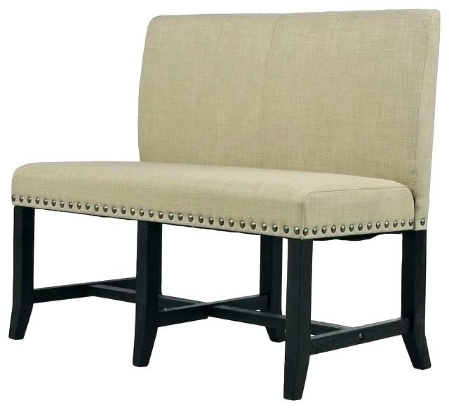 Popular Bench With Back For Dining Tables With Regard To Upholstered Bench Seating Dining Contemporary Banquette Bench (View 17 of 20)
