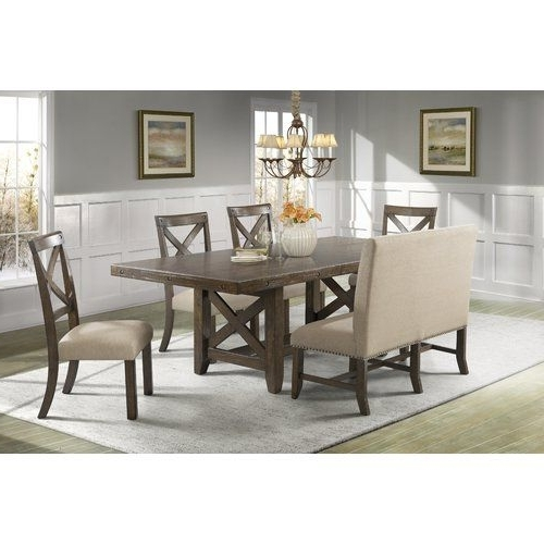 Popular Candice Ii 7 Piece Extension Rectangular Dining Sets With Uph Side Chairs Pertaining To 16 Best Shelbi Images On Pinterest (View 15 of 20)